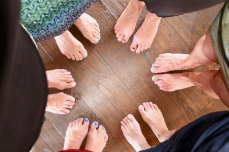 Kreistanzen in der Yogaschule Ananda in Wettingen